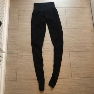 DYI high rise black leggings with mesh bottoms
